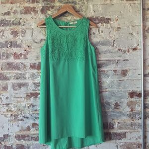 Green shift dress by YA LA